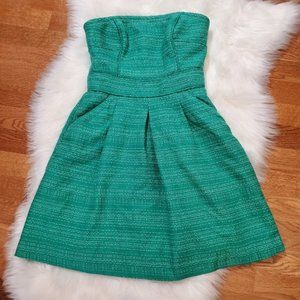Banana Republic Strapless Green Dress SZ 2P